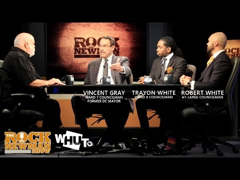 Councilmen Vincent Gray, Trayon White and Robert White on The Rock Newman Show