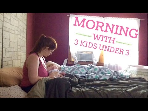 MORNING ROUTINE WITH 3 KIDS UNDER 3