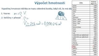 Výpočet hmotnosti