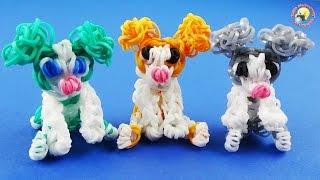 Фигурка щенка (собачка) из резинок Rainbow Loom DOG Puppy from the Loom Bands