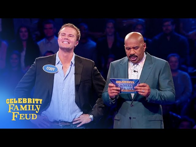 Boom! Cody Gifford gets 196 points! | Celebrity Family Feud