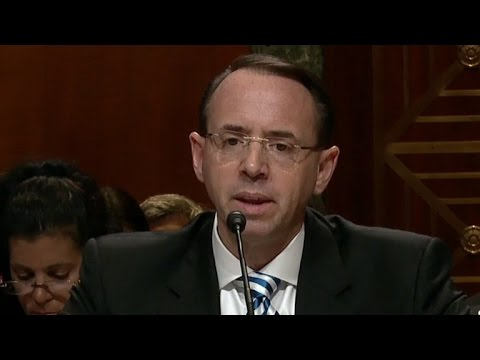 Deputy AG Rod Rosenstein says no plans to remove special counsel