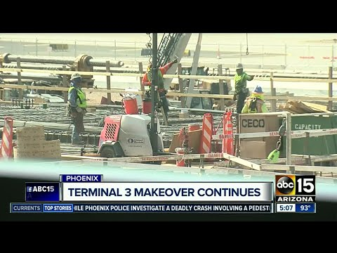 Terminal 3 makeover at Sky Harbor continues