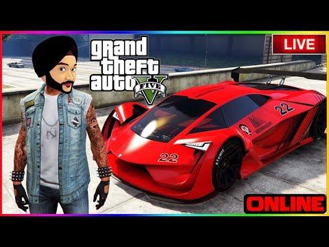 🔴 INDIAN PLAYING GTA 5 ONLINE - RACE STUNTS & LTS FUN #71 🔴