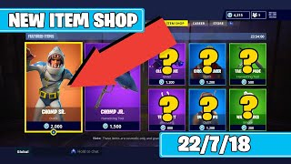 NEW CHOMP SR SKIN! + DAILY ITEM SHOP RESET [22/7/18] Fortnite Battle Royale