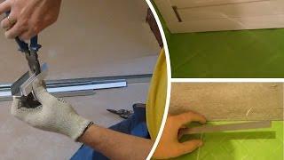 видео Пластиковый багет для натяжных потолков — монтаж потолочной планки из ПВХ своими руками