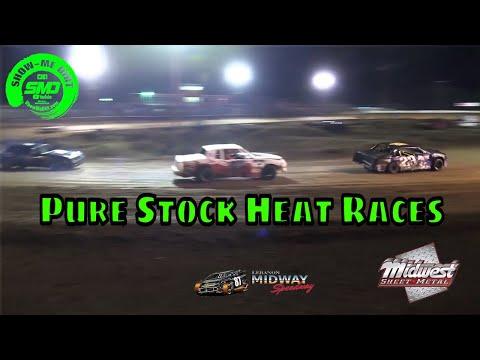 Pure Stock Heat Races - Malvern Bank Cash Money SuperDirt - Lebanon Midway Speedway 10-19-2019