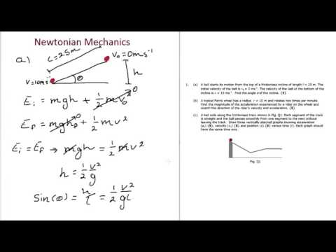 Newtonian Mechanics Exam Tutorial - Physics Undergrad and A-Level