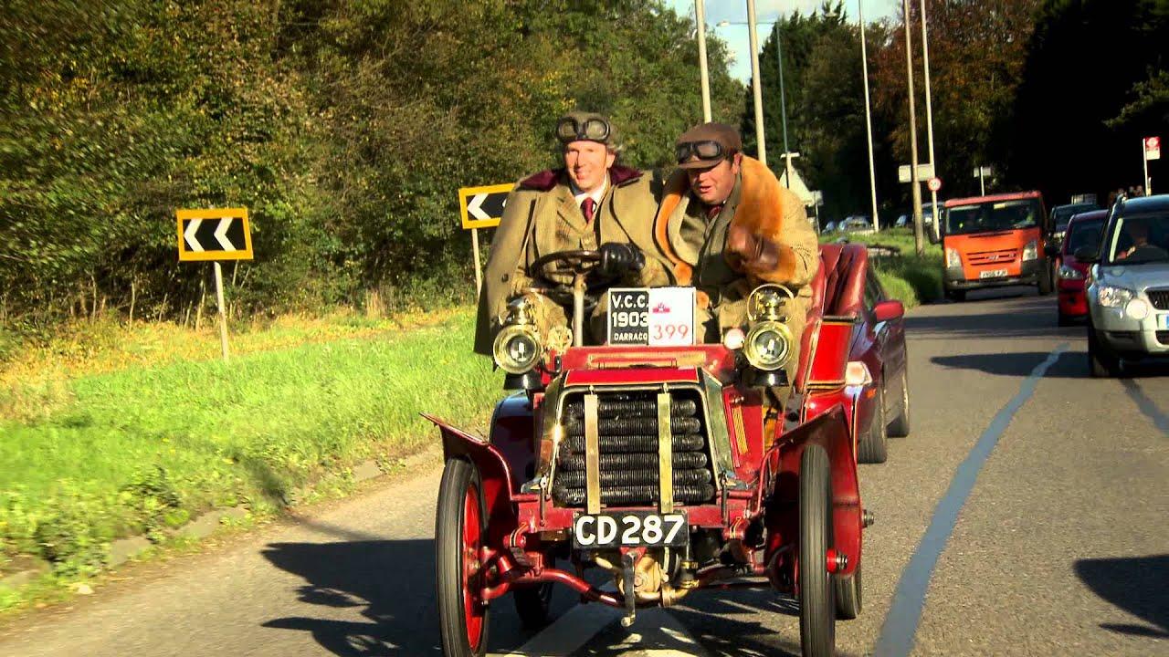 London to Brighton Veteran Car Run in the Darracq Type L - Wheeler ...