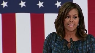 Michelle Obama takes on Donald Trump in Philly