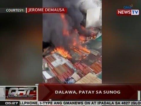 QRT: Dalawa, patay sa sunog sa Sampaloc, Manila