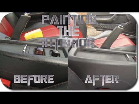 Re Painting The Interior Of A Mercedes SLK R170 YouTube