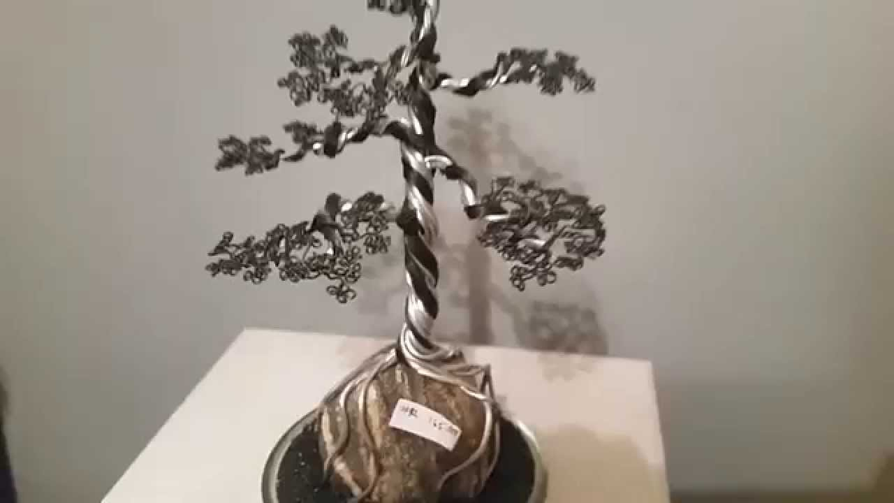 Bonsai Tree 42 Wire Sculpture By Artist Rick Skursky Youtube Ficus Wiring