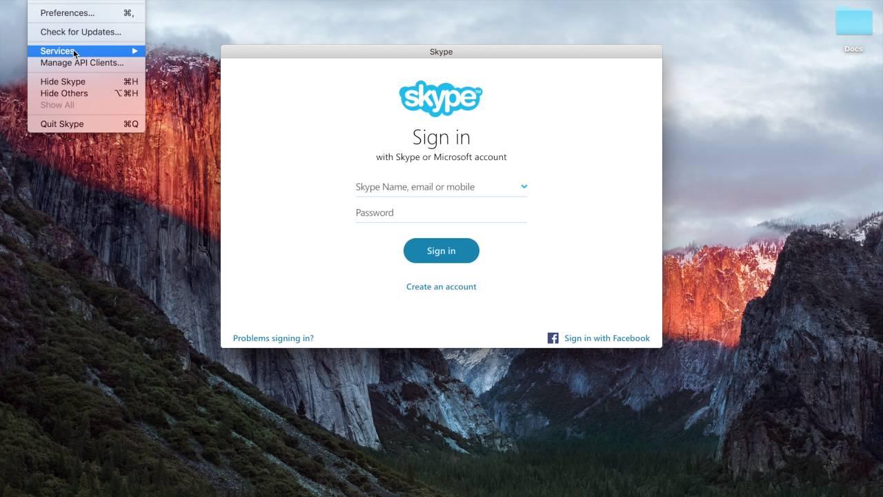 how to close skype on mac