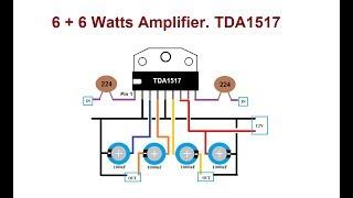 كيفية جعل 6W + 6W TDA1517 مكبر للصوت. كبيرة أمبير تحت $4.