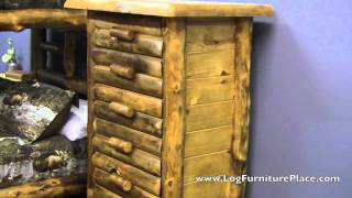 Silver Creek Aspen 5 Drawer Log Chest From Logfurnitureplace.com