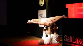 AcroYoga Performance | Bryan Flanders and Mariah Bishop | TEDxSaltLakeCity