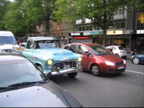 American cars in Stockholm May 2015.