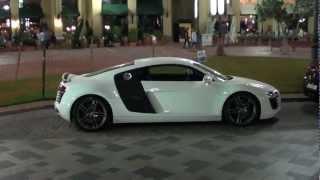 Supercars @ Dubai Marina The Walk JBR (Maserati, 2x Ferrari 458, Audi R8, Corvette)