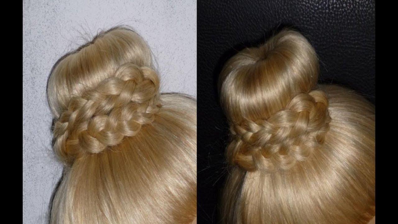 Прически на средня длинные волосы в школу
