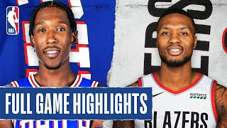 76ERS at TRAIL BLAZERS | FULL GAME HIGHLIGHTS | August 9, 2020