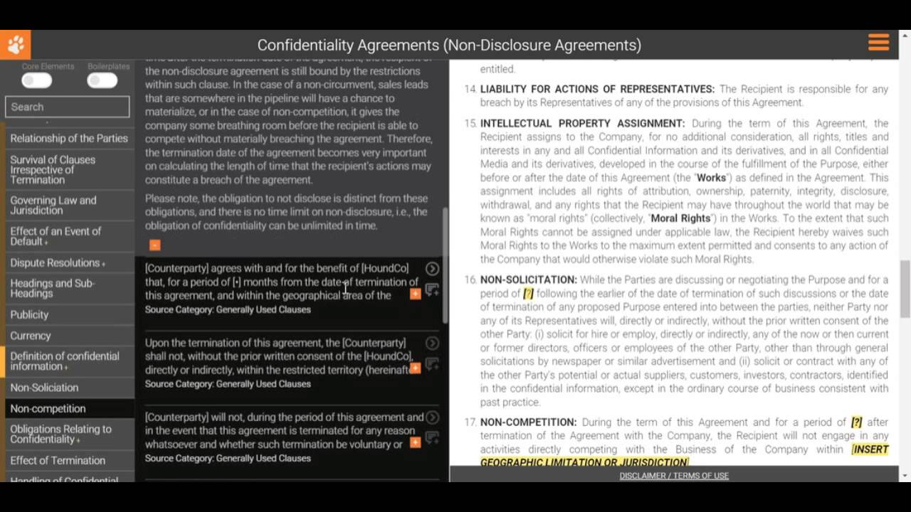 Drafting A Non Disclosure Agreement Non Soliticiation Non Compete