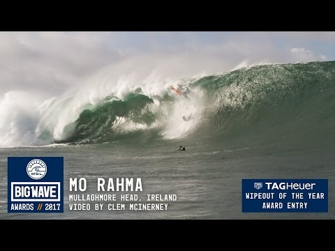 Mo Rahma at Mullaghmore - 2017 TAG Heuer Wipeout of the Year Entry - WSL Big Wave Awards
