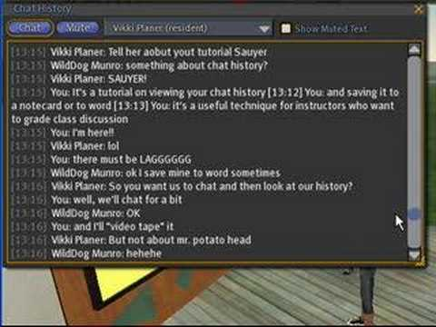 Retrieving Your Chat History - Second Life