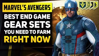 "BEST END GAME ITEMS! Marvel's Avengers Gear ""Sets"" You Need To Get (Avengers Game Tips and Tricks)"