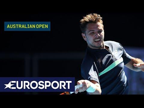 Ricardas Berankis v Stan Wawrinka Highlights   Australian Open 2018 Round 1   Eurosport