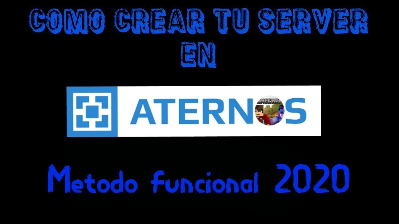 Como crear un servidor en aternos | Metodo Funcional 2020 ...