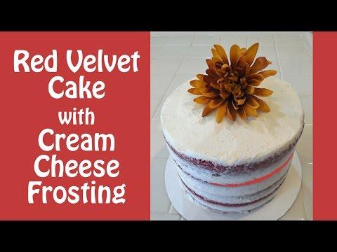 Simple Red Velvet Cake & Cream Cheese Frosting