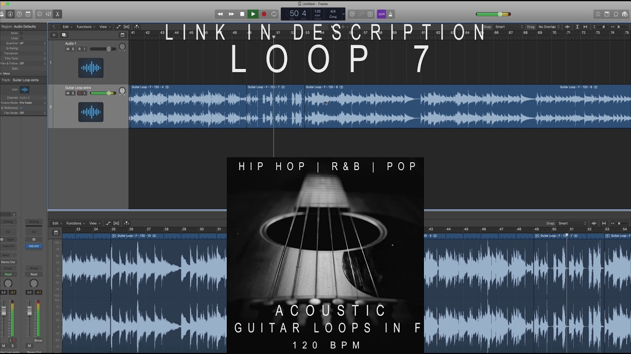 Acoustic Guitar Loops/Sample Pack in F - 120 BPM (For Hip hop | Trap | R&B  Beats/Songs)