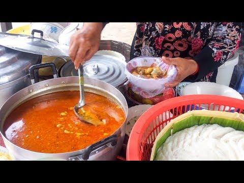 Asian Street Food, Fast Food Street in Asia, Cambodian Street food #230
