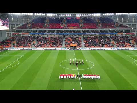 Гимн России перед матчем сборной