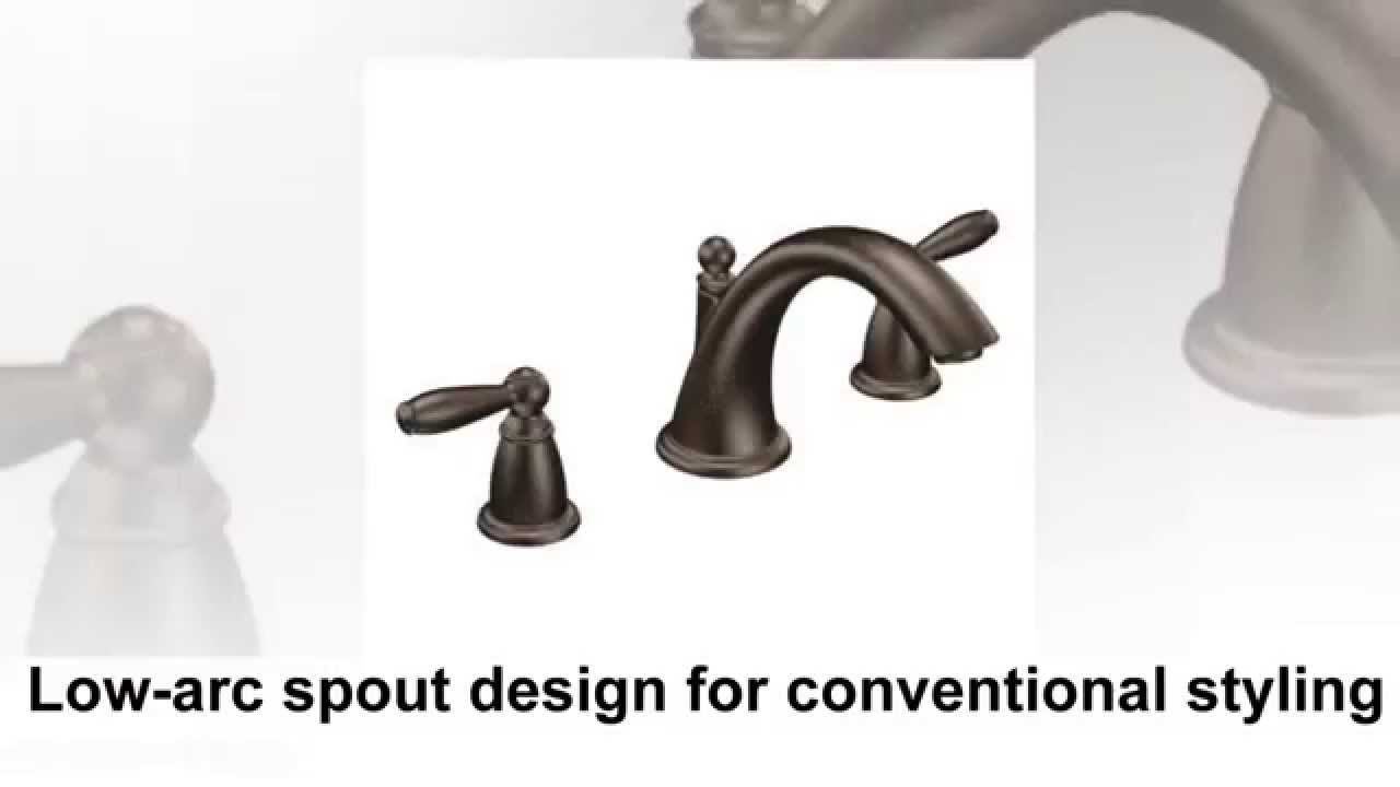 Moen T4943ORB Brantford Two Handle Low Arc Roman Tub Faucet without ...