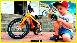 Видео для детей Детский Велосипед BMW kidsbike Устанавливаем звонок замок и фару(Детский велосипед BMW Kidsbike любимая большая игрушка Алекса. Дети любят кататься на велосипедах. Сегодня мы..., 2016-09-16T06:00:00.000Z)