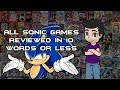 All Sonic Games Reviewed in 10 Words or Less