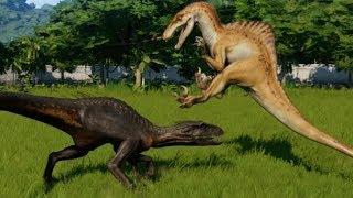 Spinoraptor vs Velociraptor, Indoraptor, Indominus, T-Rex, Spinosaurus & Stegoceratops (1080p 60FPS)