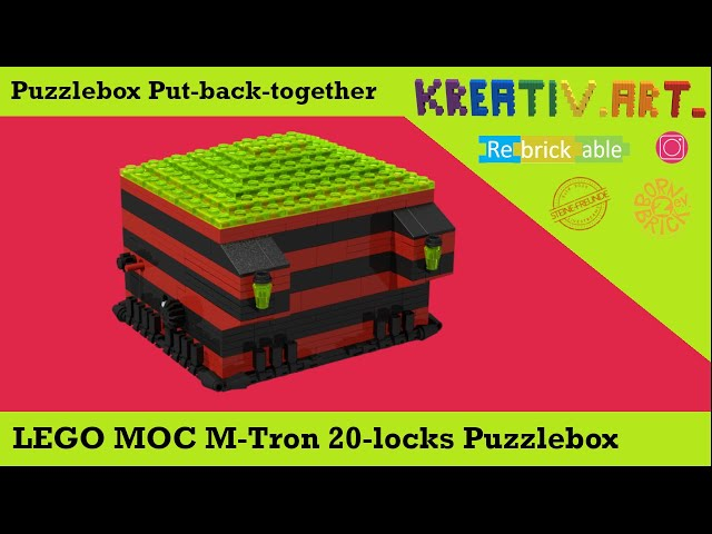 LEGO® MOC M-Tron 20 locks Puzzlebox | Putting-back-together after Solving English