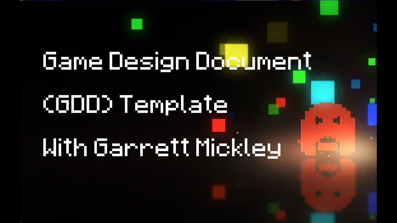Free Game Design Document GDD Template YouTube - Game document template