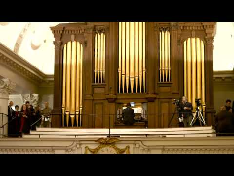 The 106th Annual Christmas Carol Service filmed in December of 2015 at the Harvard Memorial Church