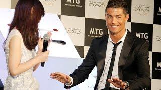 クリスティアーノ・ロナウド「好きな和食はスシ」ファンと交流 「MTG」新商品会見(3)【Cristiano Ronaldo】 #Cristiano Ronaldo #event