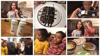 #VLOG/FIRST TIME CAKE చేశాను/ నేను use చేసే shampoo/ lazy day vlog/fun with kids 😃