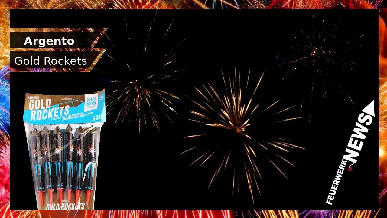 ARGENTO GOLD ROCKETS   TOP Gold Raketen!   Feuerwerk.News
