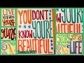 DIY Lyrics Art ✽ One Direction