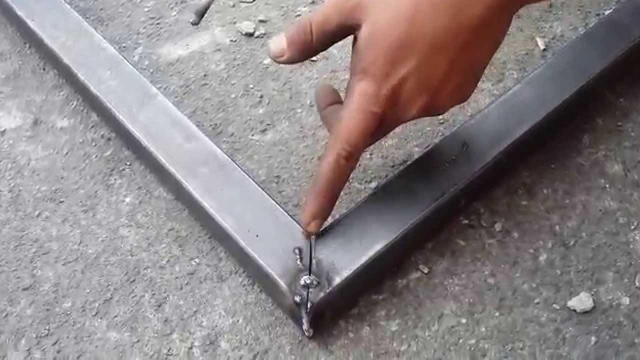 como cuadrar y soldar un marco con tubo cuadrado para un cajero ...