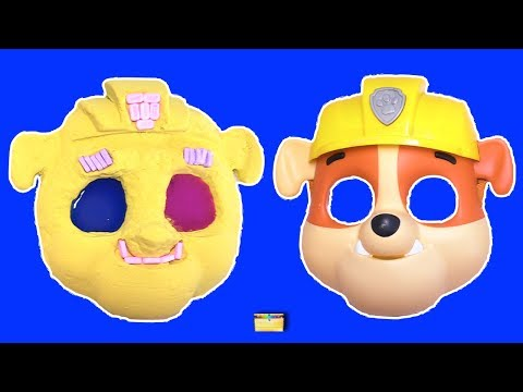 Thumbnail: Making PAW PATROL RUBBLE w/ Kinetic Sand, PEZ, Slime, Mask, Surprise Toy Games - LEARN COLORS