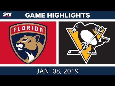 NHL Highlights | Panthers vs. Penguins - Jan. 8, 2019
