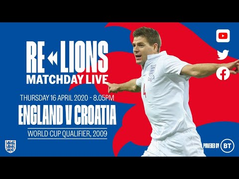 England 5-1 Croatia   Full Match   World Cup Qualifier 2009   ReLions